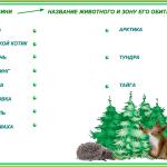 КАРТОЧКА №4. Тайга животные