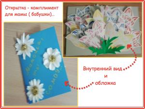открытка на 8 марта